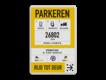 informatiebord reflecterend eigen ontwerp mobiel parkeren Parkbee Parkmobile