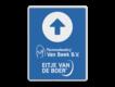 informatiebord reflecterend eigen ontwerp verwijzing Pluimveehouderij Van Beek