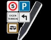 Terreinborden voor huisnummerpaal
