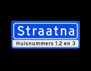 Straatnaambord BASIC + Onder…
