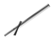 Verkeersbord-buispaal  600mm boven de grond - Aluminium
