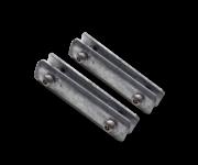 Beugelset spijlen- / gaashek staal - ANTI-DIEFSTAL (set 2 stuks)