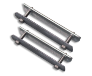 Beugelset spijlenhek gelav. staal (set 2 stuks)