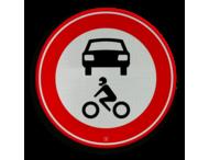 Verkeersbord RVV C12 - Gesloten voor alle motorvoertuigen