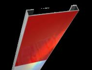 Schrikhekplank 5500mm lang C-profiel blokmotief. RVV BB16-1