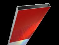 Schrikhekplank 3000mm lang kokerprofiel blokmotief. RVV BB16-1