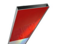 Schrikhekplank 3500mm lang kokerprofiel blokmotief. RVV BB16-1