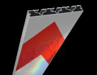 Schrikhekplank 5000mm lang VERZWAARD pijlmotief. RVV BB18-1