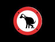Informatiebord ARV Ø100mm hond B