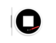 Achtergrondschild 1 lichts verkeerslicht (VKL)