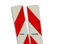 Kaderrand 200mm rood/wit klasse 3, zelfklevend