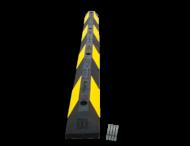 Parkeerplaatsstop 900x150x100mm geel/zwart