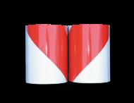 Markeertape reflecterend klasse 2 - 141mm - links/rechts