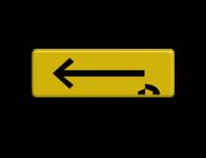 Verkeersbord PIJL geel/zwart Janssen Aann.