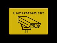Informatiebord geel/zwart cameratoezicht - BP04