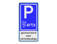 Verkeersbord RVV E08 arts + tekstregels