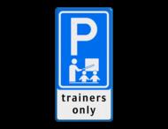 Verkeersbord RVV E08 trainers