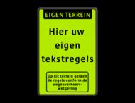 Tekstbord  met banner en pictogram
