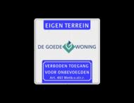 Verkeersbord Koptekst - LOGO - VT461