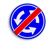 Verkeersbord D01 - Einde rotonde