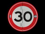 Klapbord - 5 standen - Rond conform RVV