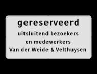 Onderbord wit/zwart + eigen tekst