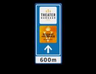 Bewegwijzering 600x1500x28mm - TheaterHangaar + logo + pijl