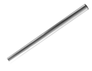 Buispaal Ø48x1500 mm boven maaiveld ALUMINIUM + afdekkap zonder ankergaten