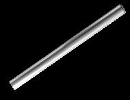 Buispaal Ø48x2000mm boven maaiveld ALUMINIUM + afdekkap zonder ankergaten
