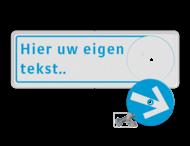Verwijsbord met draaibare routepijl + full-colour