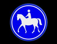 Verkeersbord RVV G09 - Ruiterpad