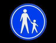 Verkeersbord RVV G07 - Voetpad