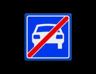Verkeersbord RVV G04 - Einde autoweg