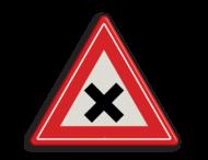 Verkeersbord RVV J08 - Vooraanduiding gevaarlijk kruispunt