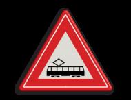 Verkeersbord RVV J14 - Vooraanduiding tramkruising