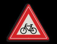 Verkeersbord RVV J24 - Vooraanduiding oversteekplaats (brom-)fietsers