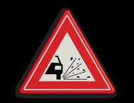 Verkeersbord RVV J25 - Vooraanduiding losliggende stenen