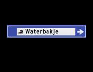 Verwijsbord watersport 1130x175x32mm