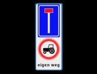 Verkeersbord RVV L08 - C08 + eigen tekst
