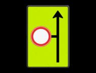 Verkeersbord RVV L09-C01 - Volgende zijstraat is gesloten voor verkeer - fluor achtergrond