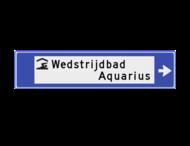 Verwijsbord watersport 1130x265x32mm