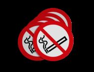 Stickerset C01_roken verboden   set van 5 stickers