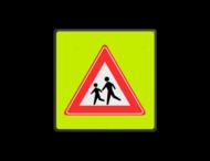 Verkeersbord RVV J21f - Overstekende Kinderen