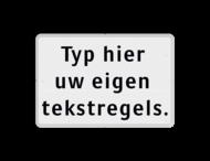 Tekstbord wit/zwart 3 regelig