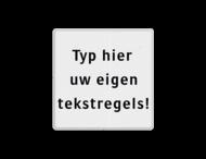 Tekstbord wit/zwart 5 regelig