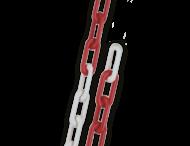 Ketting verzinkt STAAL 6mm in rood/wit | 10 meter lang