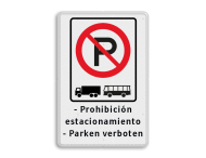 Verkeersbord ARD RVV E 201 + eigen tekstregels