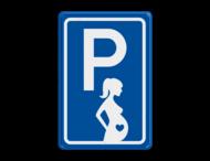 Parkeerbord type E08 parkeren zwangere vrouwen