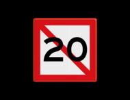 Scheepvaartbord BPR A. 5.1 - Verboden ligplaats te nemen binnen de meters zoals aangegeven