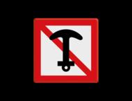 Scheepvaartbord BPR A. 6 - Verboden te ankeren en ankers, kabels en kettingen te laten slepen